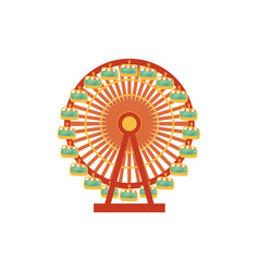 cartoon front view of ferris wheel vector image