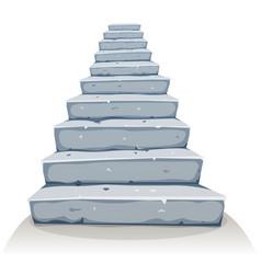 Cartoon stone stairs vector