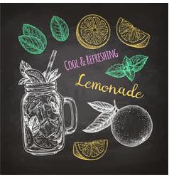 chalk sketch of lemonade vector image vector image
