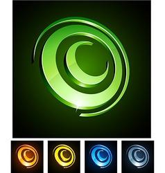 Circle vibrant emblems vector image