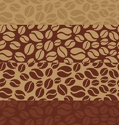 Coffee beans poster vector image