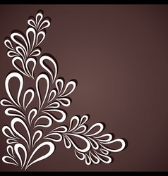 Creative white flora in dark background vector