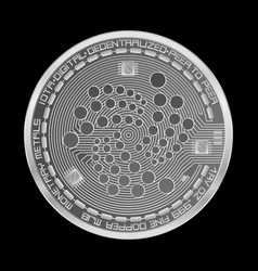 Crypto currency iota silver symbol vector