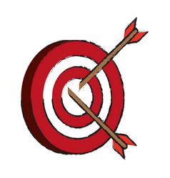 darts on bullseye icon image vector image