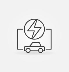electric car linear concept icon vector image vector image