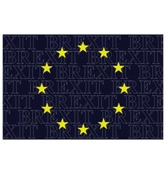 European union brexit text flag vector