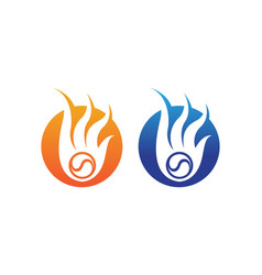 Fire logo hot logo and symbols template icons vector