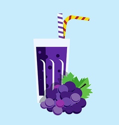 Fresh grape juice drink vector