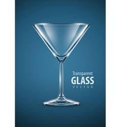 glass goblet for martini vector image
