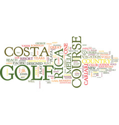 Golf in the wild text background word cloud vector