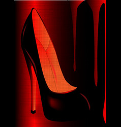 Grunge shoe vector