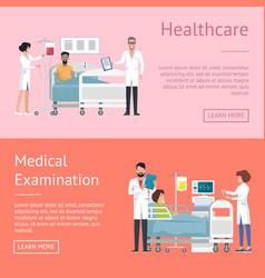 Healthcare medical examination vector