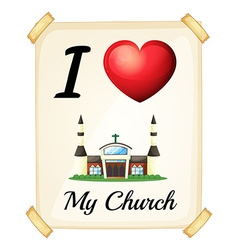 I love church vector image vector image