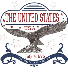 July 4th us independence day template with eagle vector