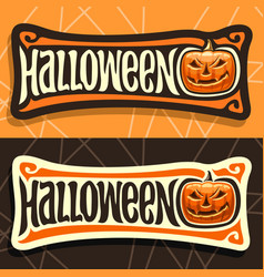 Labels for halloween holiday vector