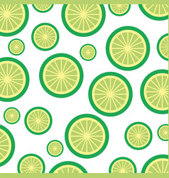 Lemon tropical and exotic fruit pattern vector