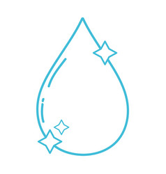 line nice water drop with stars design vector image
