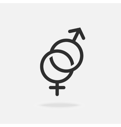 Male and female icon vector image