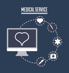 Medical service design vector