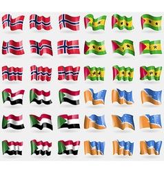 Norway sao tome and principe sudan tierra del vector