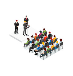 Party meeting isometric design concept vector