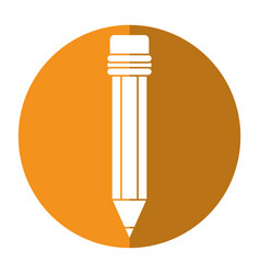 pencil school utensil wood shadow vector image