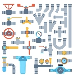 pipes set vector image