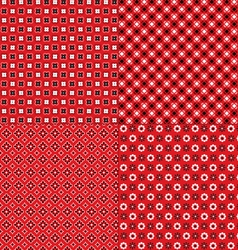 Red bandana patterns vector