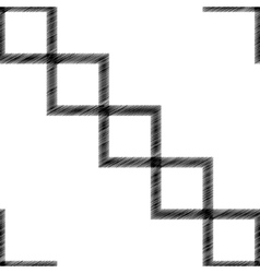 scribble diagonal square vector image