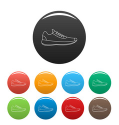 sneakers icons color set vector image