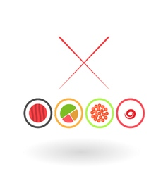 Sushi on a white background vector