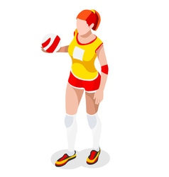 Volleyball 2016 sports 3d isometric vector