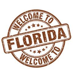 Welcome to florida vector
