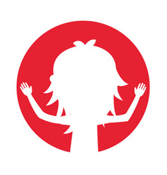 Young woman silhouette avatar character vector