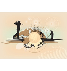 Abstract brown golf background vector
