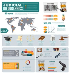 Criminal and civil law flat infographic poster vector