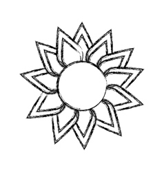 Sunflower cute isolated icon vector