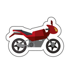 motorcycle transport style shadow vector image
