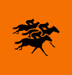 Horse ride icon vector