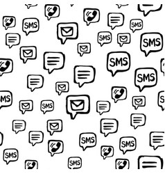 cell phone sms and email communications seamless vector image