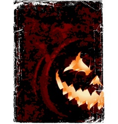 Halloween grunge poster with space for you design vector
