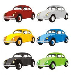 Funny colored cars with details vector