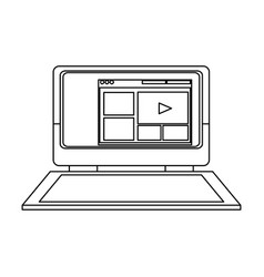 Laptop computer web site internet online vector