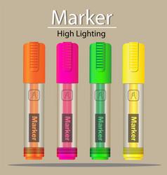 Marker highlighting icon vector