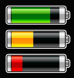 Progress bar baterries vector