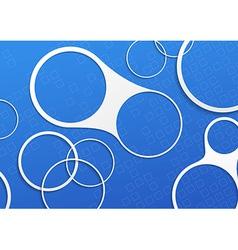Blue folder white circle design elements vector image