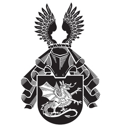 Heraldic silhouette no12 vector