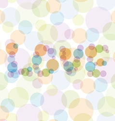 Love seamless pattern with color circles for vector
