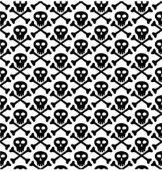 skull black pattern vector image