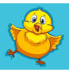 Yellow chick with happy face vector